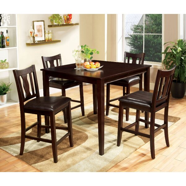Crewellwalk 5 Piece Counter Height Dining Set by Latitude Run