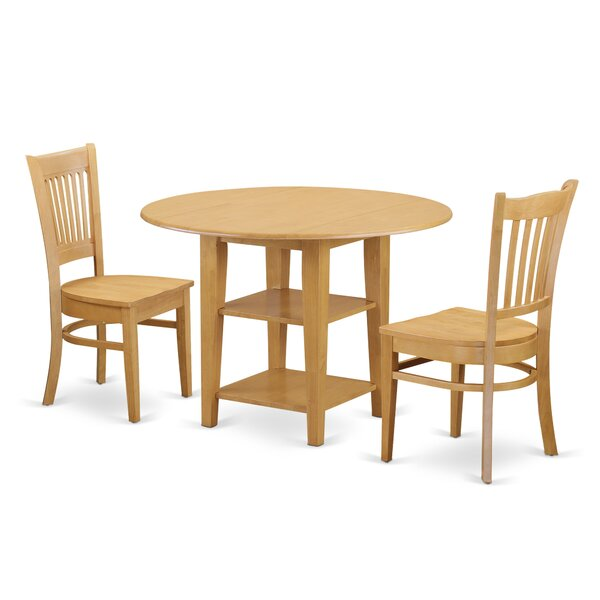 Best #1 Tyshawn 3 Piece Drop Leaf Breakfast Nook Solid Wood Dining Set By Charlton Home Purchase