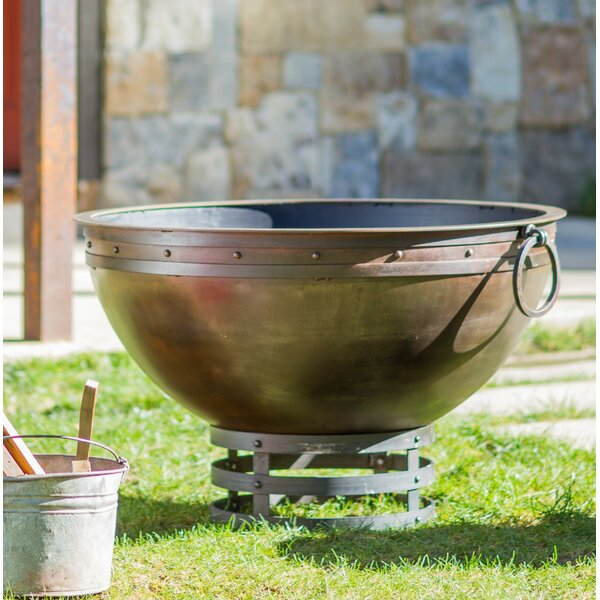 Warm Grace Steel Fire Pit by Cedar Creek Sculptures