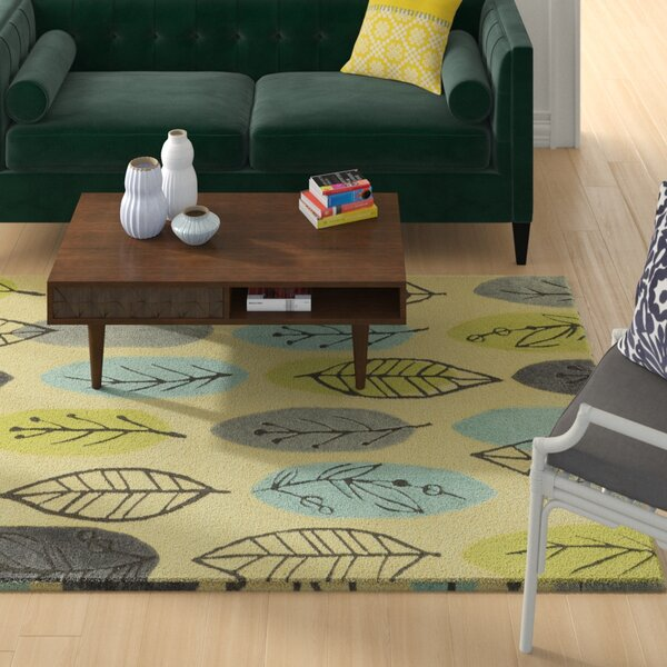 Scheidt Tropical Hand-Tufted Blue/Green Area Rug by Wrought Studio
