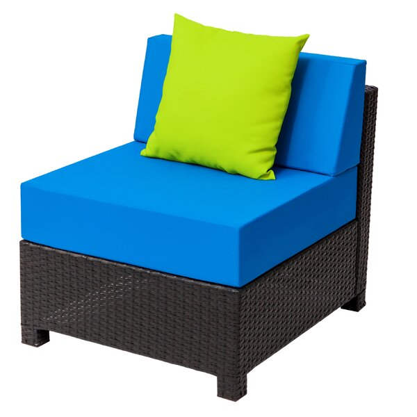 Faribault Middle Single Patio Chair with Cushions by Red Barrel Studio