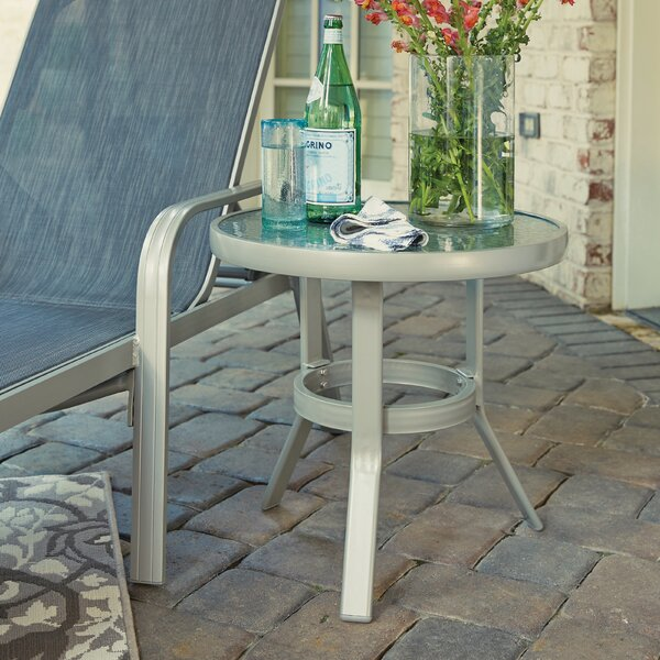 Loomis Glass Side Table by Winston Porter