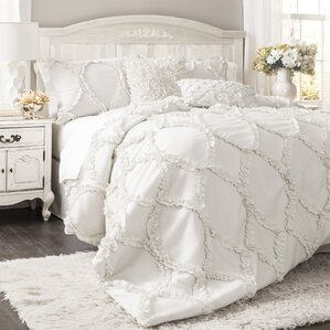 King Size Comforter Sets Youll Love Wayfair - Blue solid color king size comforter