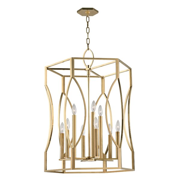 Alonzo 9 - Light Lantern Geometric Chandelier By Darby Home Co