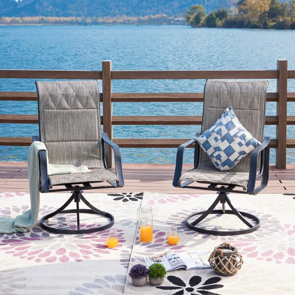 Sarvis Swivel Patio Dining Chair (Set Of 2) By Charlton Home