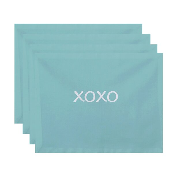 Lutie XOXO Print Placemat (Set of 4) by Latitude Run