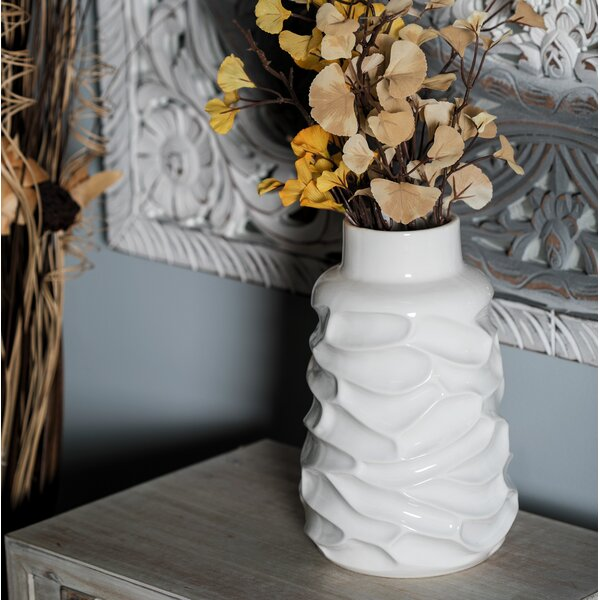 Ozment Contemporary Ceramic Table Vase by George Oliver