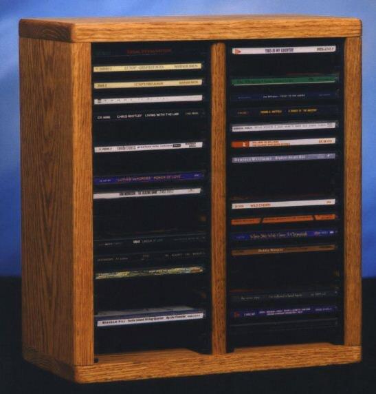 200 Series 40 CD Multimedia Tabletop Storage Rack by Wood Shed