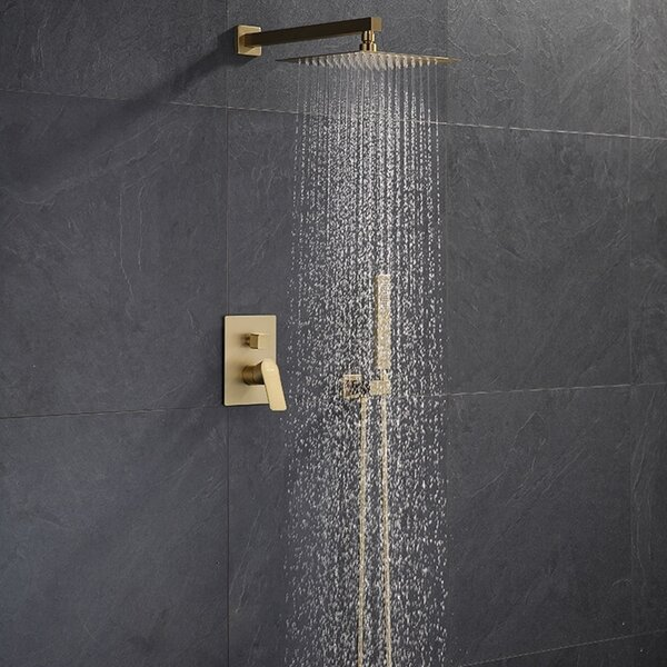 Napoli Rainfall Volume Control Complete Shower System With Rough-in Valve By FontanaShowers
