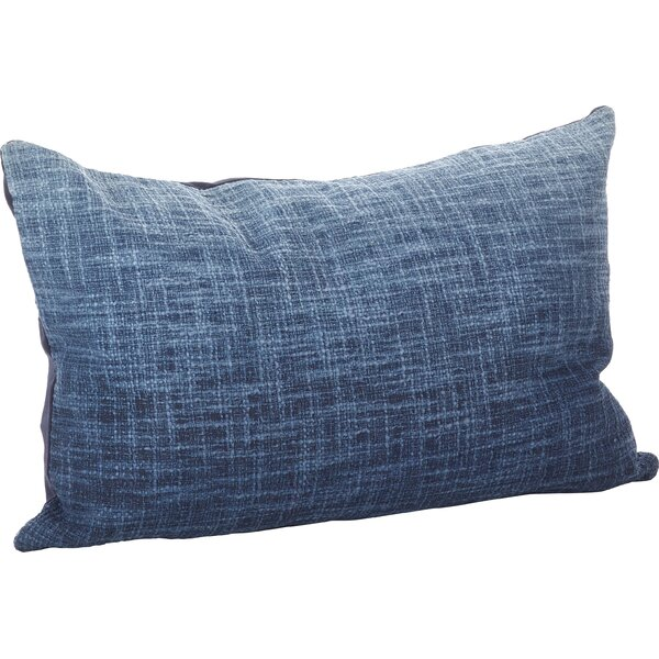 Lancaster Ombre Cotton Lumbar Pillow by Saro