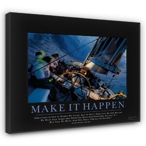 'Make It Happen' Motivational Photographic Print by East Urban Home