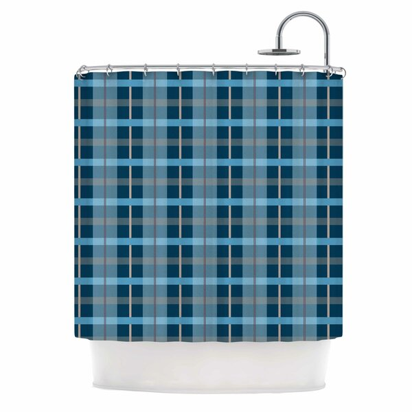Afe Images Plaid Illustration Shower Curtain by East Urban Home