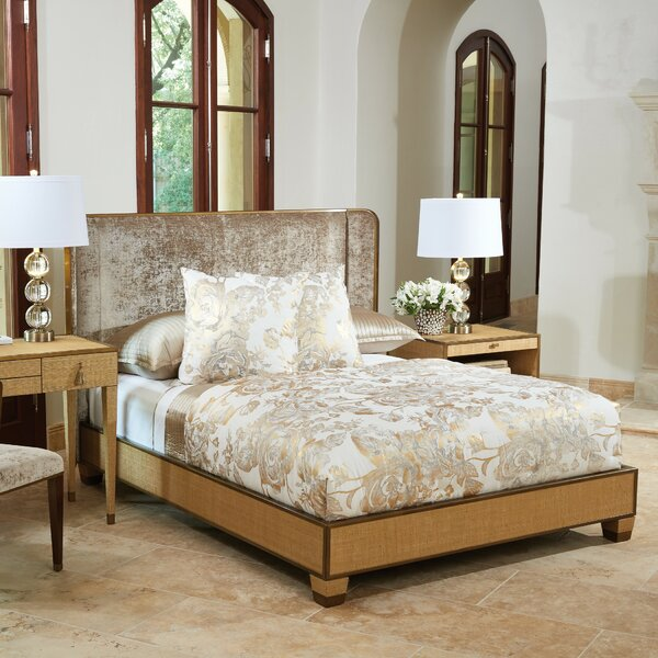 D'Oro Upholstered Standard Bed with Mattress by Global Views