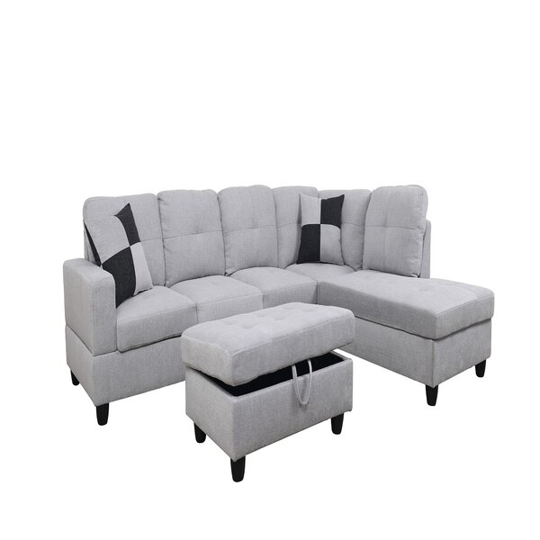 Gerlad Louis 32'' Right Hand Facing Sectional With Ottoman By Latitude Run