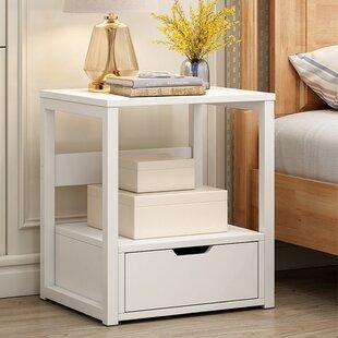 Joerell 1 - Drawer Nightstand in White by Latitude Run®