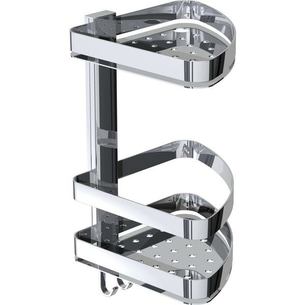 Mantz Wall Mount Corner Shower Caddy Double Shelf Organizer by Latitude Run
