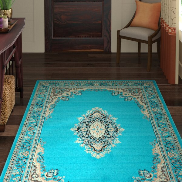 Britain Turquoise Area Rug by World Menagerie