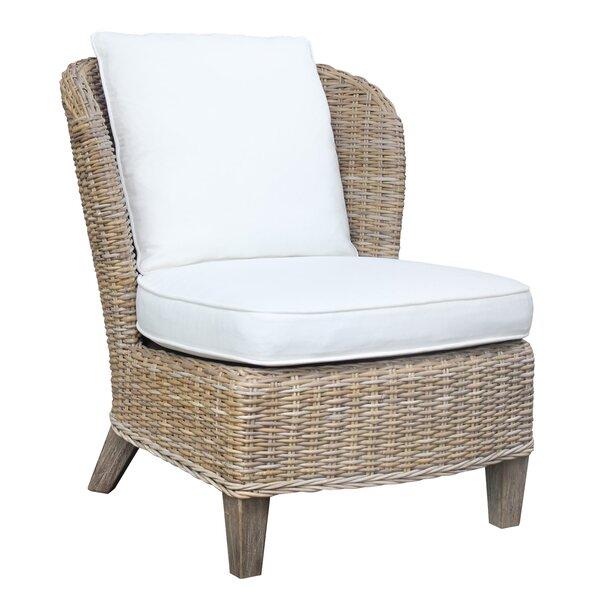 Shaurya Rattan Slipper Chair by Highland Dunes