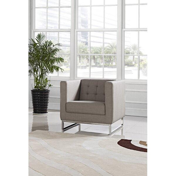 Gladys Modern Fabric Armchair by Orren Ellis
