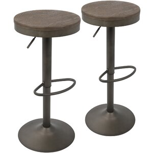 Chambord Adjustable Height Swivel Bar Stool (Set of 2)