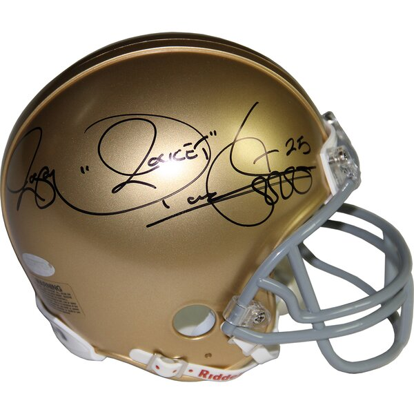 Decorative Rocket Ismail Signed Notre Dame mini Helmet by Steiner Sports
