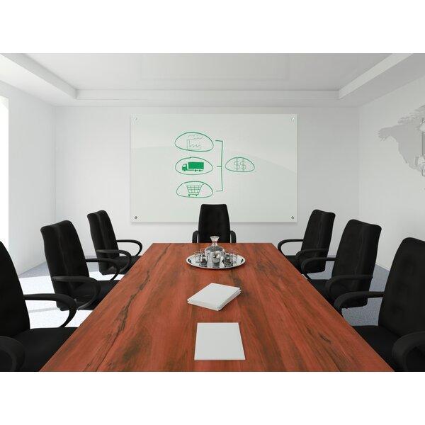 Enlighten Wall Mounted Glass Board, 35.43 x 47.24 by Best-Rite®