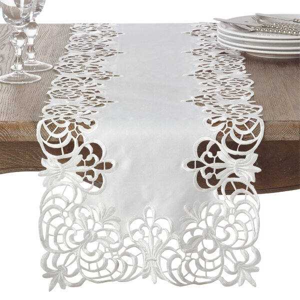 Arabella Cutwork Table Runner by Saro