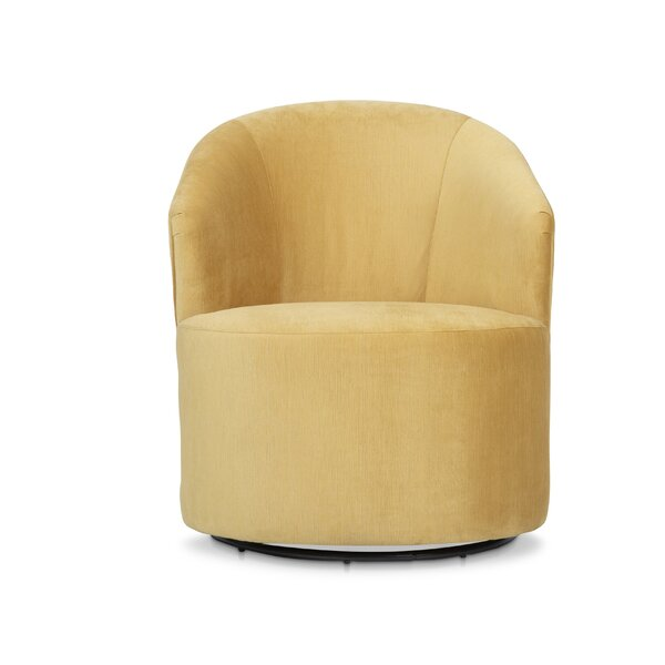 Keck Swivel 20.5-inch Barrel Chair by Everly Quinn Everly Quinn