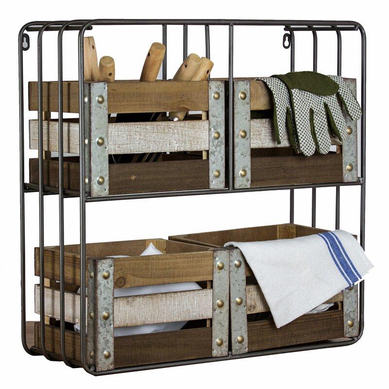 Gracie Oaks Casier de rangement pour tablettes en bois & et Commentaires   Wayfair.ca