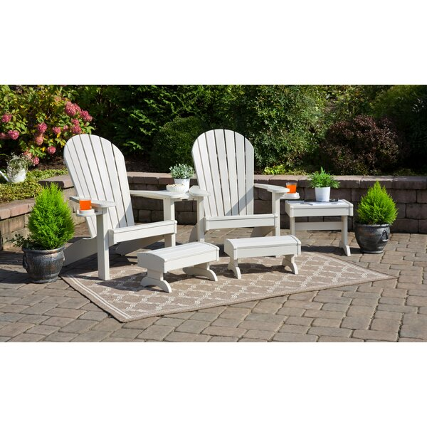 Kelm 5 Piece Plastic Adirondack Chair Set by Bayou Breeze