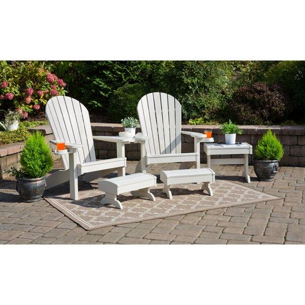 Kelm 5 Piece Plastic Adirondack Chair Set by Bayou Breeze