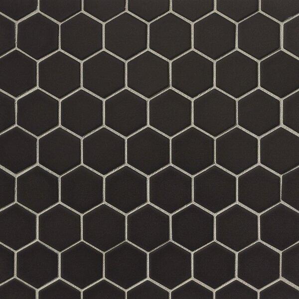 Porcelain Tile in Black by Grayson Martin