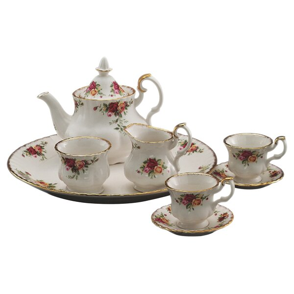 Old Country Roses Le Petite Miniature 9 Piece Teapot Set by Royal Albert