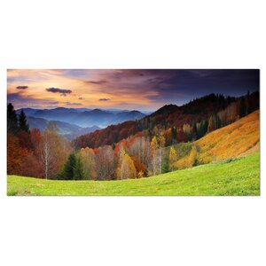 'Colorful Morning in Mountains' Photographic Print on Wrapped Canvas by Design Art