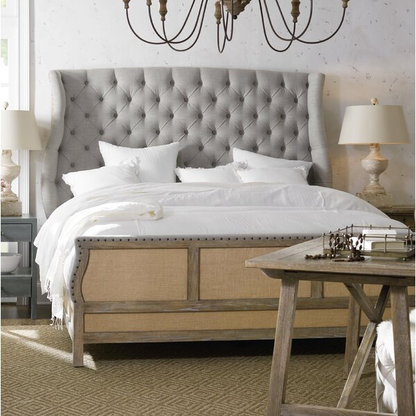 Boheme Bon Vivant De Upholstered Sleigh Bed by Hooker Furniture