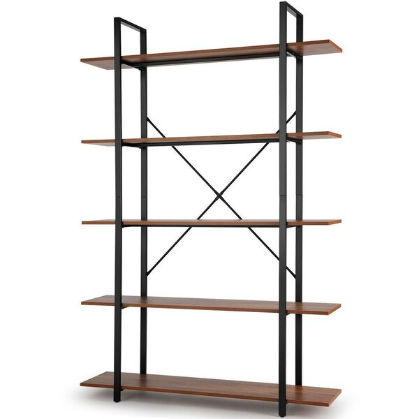 Seeber 70.9'' H X 47.24'' W Metal Etagere Bookcase By 17 Stories