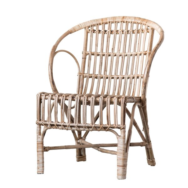 Kail Cane Wood Armchair by Bungalow Rose