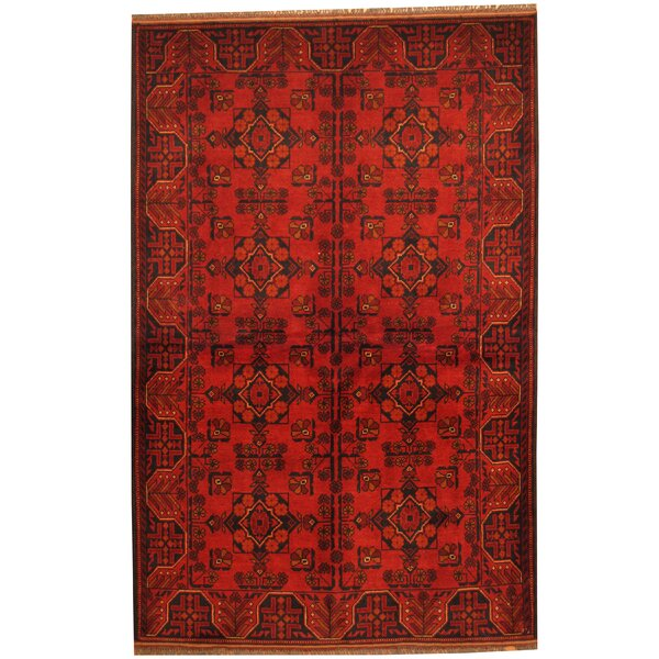 Khal Mohammadi Hand-knotted Red/Navy Area Rug by Herat Oriental