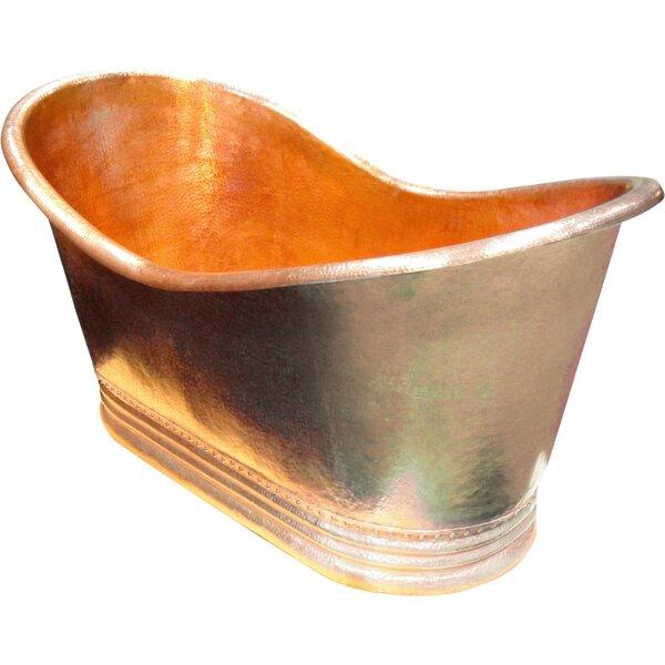 Juliana Copper 71 x 37 Large Slipper Tub by D'Vontz