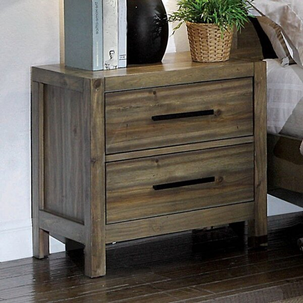 Kressley 2 Drawer Nightstand by Union Rustic