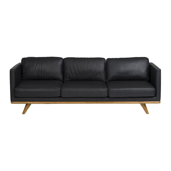 Lang Leather Sofa By Union Rustic Savings