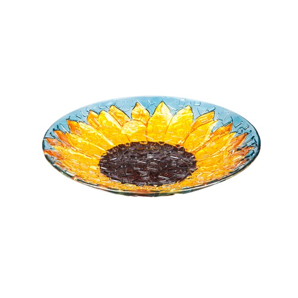 Sunflower Birdbath by Evergreen Flag & Garden