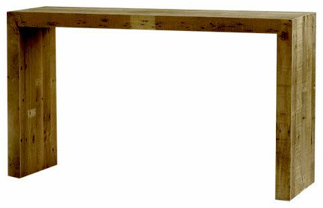 Review Ames Reclaimed Wood Console Table
