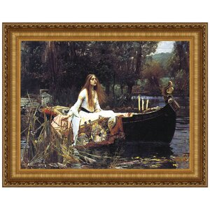 Lady of Shalott, 1888 by John William Waterhouse Framed Painting Print by Design Toscano