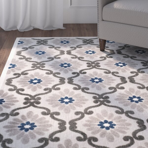 Salesville Gray/Silver Indoor/Outdoor Area Rug by Charlton Home