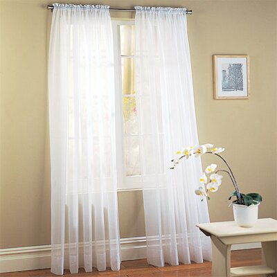 Solid Sheer Rod pocket Curtain Panels