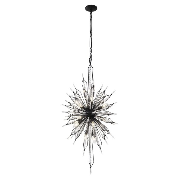 Rasco 20-Light Sputnik Sphere Chandelier by House of Hampton House of Hampton