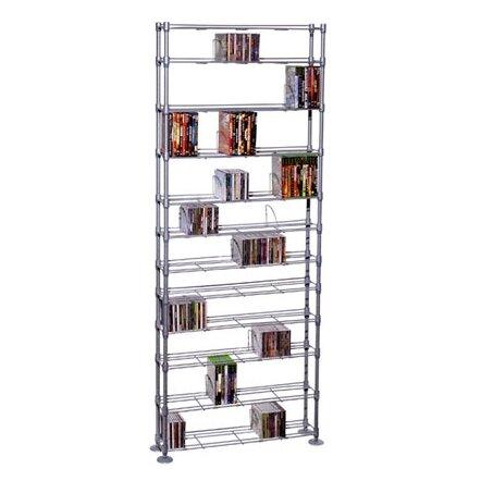 Max Steel 11 Tier Multimedia Storage Rack By Rebrilliant