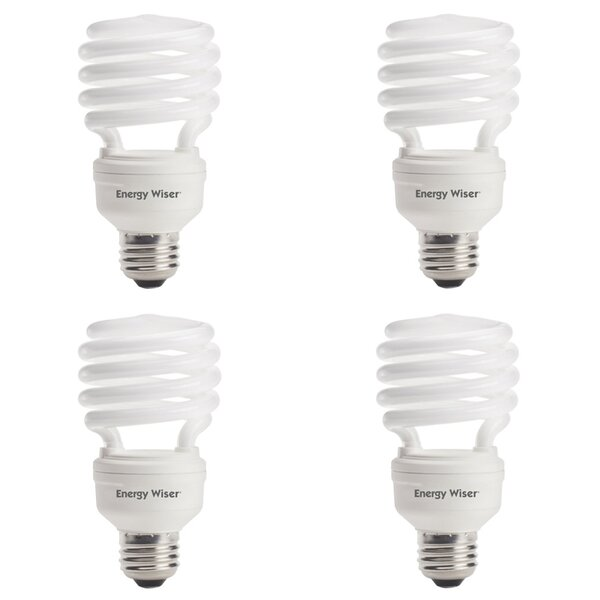23W E26 CFL Spiral Light Bulb Frosted (Set of 4) by Bulbrite Industries