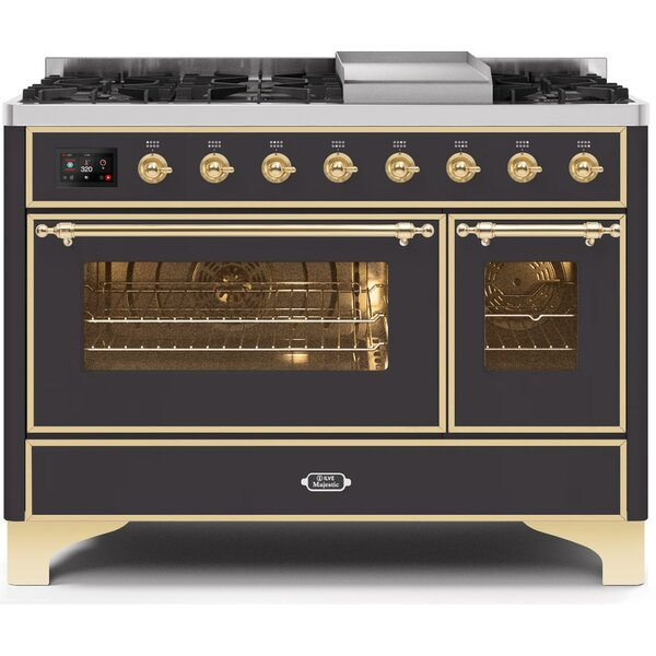 Majestic II 48 5.02 cu. ft. Freestanding Dual Fuel Range with Griddle